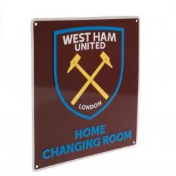 Plechová cedulka West Ham United FC šatna (typ 17)