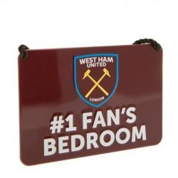 Plechová cedulka West Ham United FC ložnice No1
