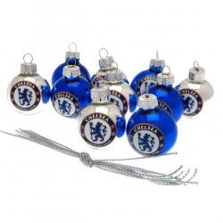 Vánoční ozdoba minikoule 10 ks Chelsea FC