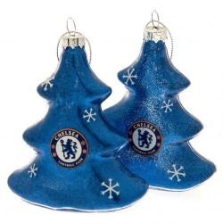 Vánoční ozdoba stromek 2ks Chelsea FC