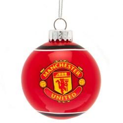 Vánoční ozdoba skleněná koule Manchester United FC (typ 19)