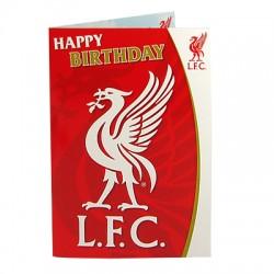 Hrací blahopřání k narozeninám Liverpool FC (typ LB)